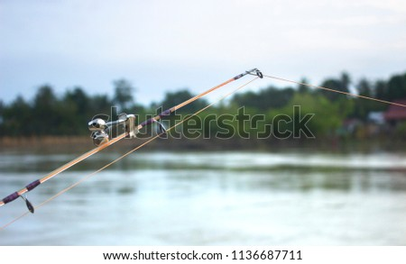fishing rod with bells #1136687711