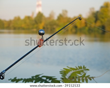 Fishing rod with signal bell stock photo 39152533 for Fishing rod bells