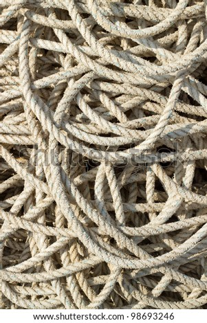 Fishing rope close up.