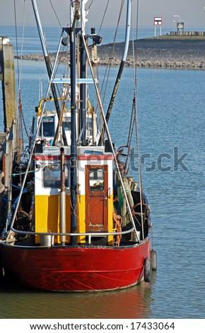 fishing ship moored on quay