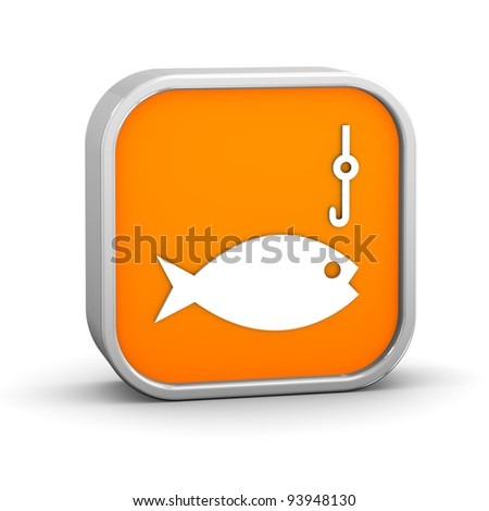 Fishing sign on a white background. Part of a series.