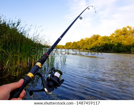 fishing spinning perch on the Volga #1487459117