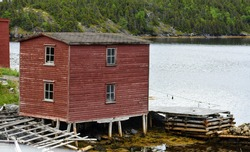 Fishing stage in outport Newfoundland and Labrador, Canada