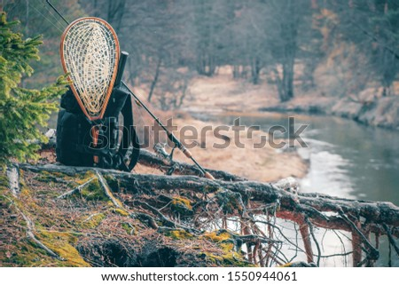 Fishing tackle on nature background #1550944061