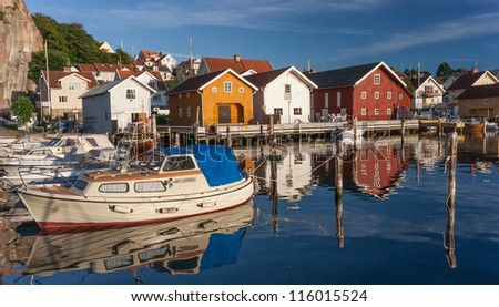 Fishing town at the Swedish west coast