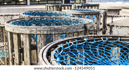 fishing traps in Galicia, Spain