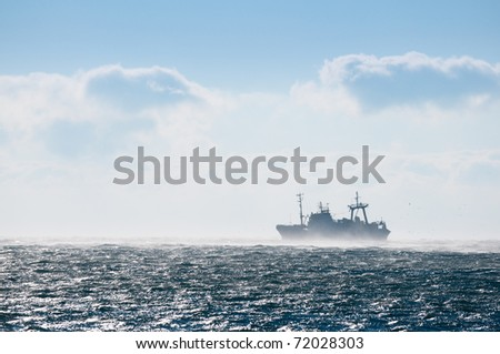 fishing vessel on the high seas