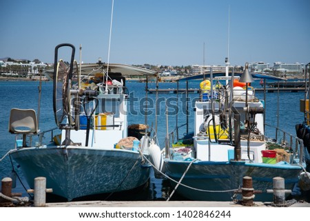 fishing vessels in the harbor #1402846244