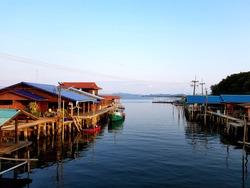 Fishing village, Bangchan, Chanthaburi, Thailand