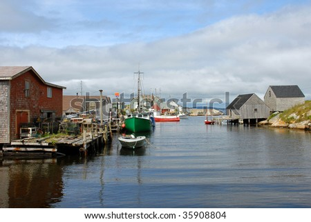 Fishing Village of Peggy's Cove Nova Scotia