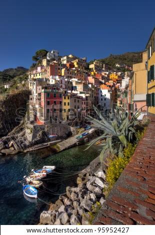 fishing village of Riomaggiore, Cinque Terre, Italy
