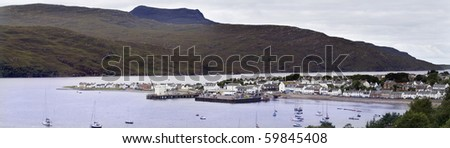 Fishing village of Ullapool on the North West coast of Scotland.