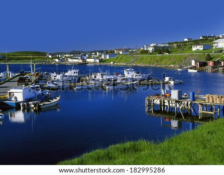 Fishing village St. Anthony in Newfoundland, Canada
