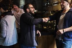 Fist Bump Friends Deal Partner Touch Pair Hands