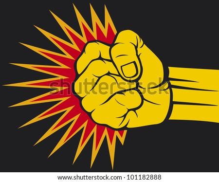 fist hitting, fist punching