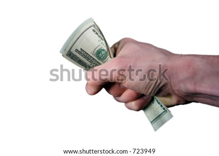Fist holding cash