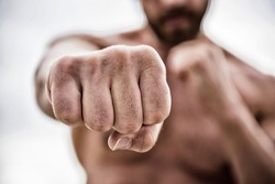 fist punch. knockout and energy. Sport is our life. no pain no gain. Great progress. success and prigress. strong man punch with huge power. absolute winner.