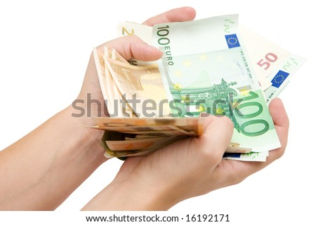 Fistful of Euro Banknotes