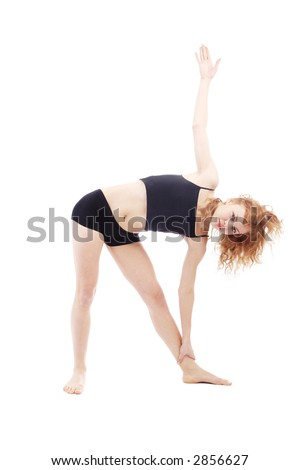 Fitness, athletics, sport. Shot in studio. Isolated on white.
