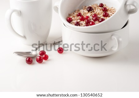 Fitness breakfast with cranberries