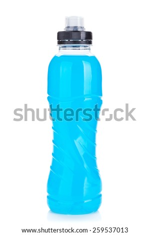 Fitness drink bottle. Isolated on white background