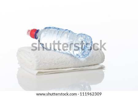 Fitness equipment towel, water