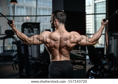 Fitness Instructor Handsome Man In The Gym Gain Muscle Healthcare Lifestyle Sexy Caucasian Bodybuilder Work