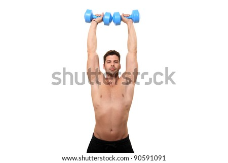 fitness instructor isolated on a white background