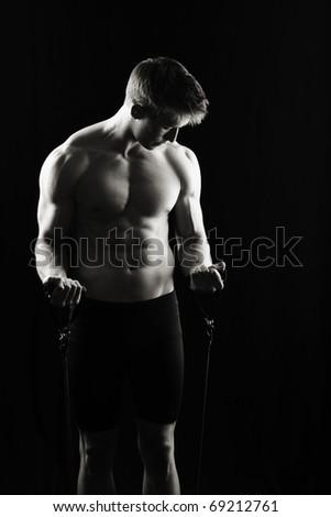 Fitness man, low key