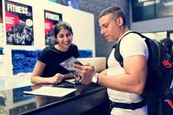 Fitness membership at the counter