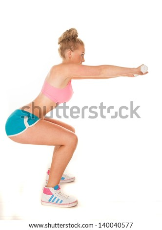 fitness woman doing squats