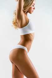 Fitness woman with a beautiful body