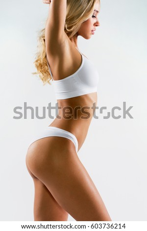 Fitness woman with a beautiful body #603736214