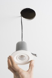 Fitting an LED light into the ceiling space