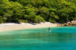 Fitzroy tropical Island beach in a sunny day