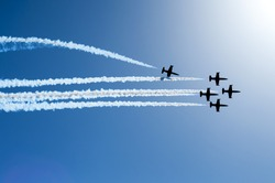 Five airplanes show