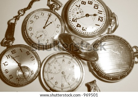 Five Antique Pocket Watches