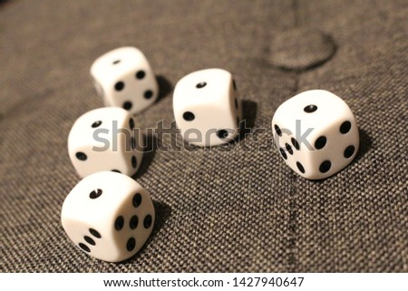 five dices with number one  #1427940647