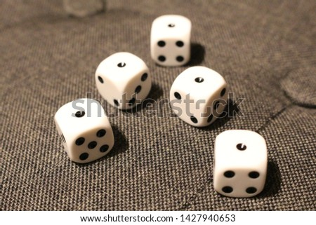 five dices with number one  #1427940653