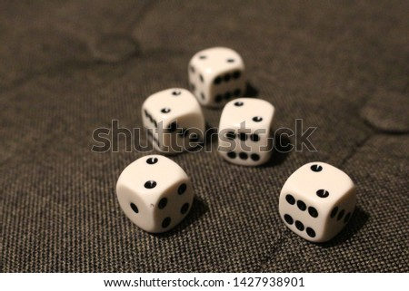 five dices with the number two #1427938901