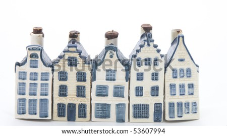 Five Dutch China houses in a row