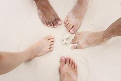 Five feet on the beach