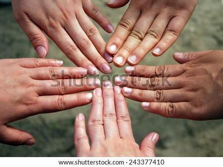 five hands like start