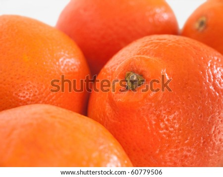 Five Honeybells on a table