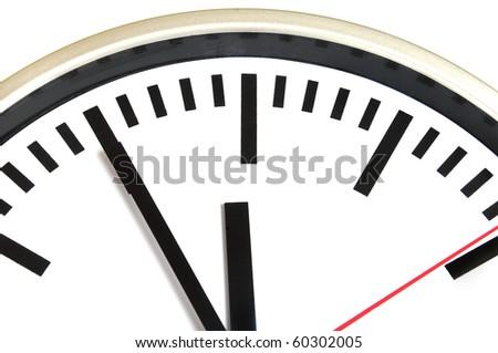 Five minutes to twelve