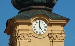 Five o'clock (Clock tower on basilica in Velehrad)