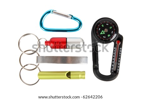 five outdoor small tool with white background