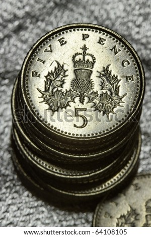 Five Pence - stock photo