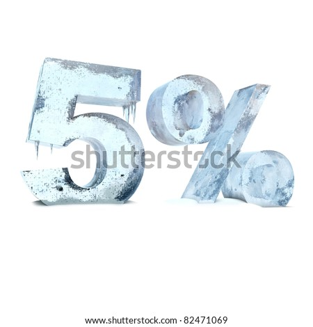 five percent of the ice