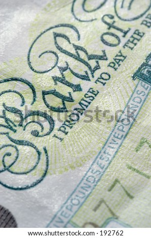 Five Pounds Sterling Banknote